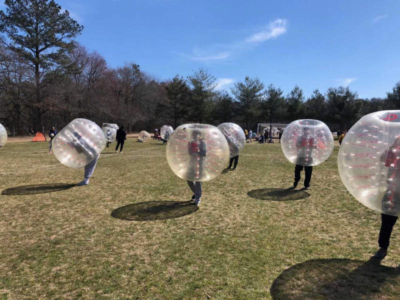 Salisbury Sunrise Rotary Bubble Ball Soccer & Family Day is our signature fundraiser to help support our yearly high school scholarships and various other causes.  Sunrise Rotary holds a tournament for local teams to compete at bubble ball soccer. Th